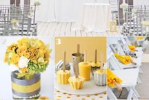 white yellow wedding