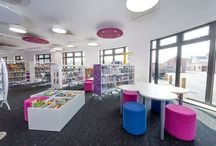 The new Library Plus in The Forum building, Towcester / The new community building, The Forum, at the heart of Towcester, Northamptonshire is now open and home to the Council and Northamptonshire's County Council's Library Plus and Registrar. Demco Interiors was the consultant for the design and specification at the start of the project and was subsequently nominated as FF&E contractor for the new Library Plus and registration services.