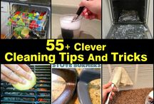 Clever Cleaning Hacks / Cleaning solutions that will make you more excited about getting those chores done. http://www.apartmentshowcase.com
