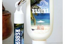 Sunscreen/Lip Balm Combo - can be personalized for a beach wedding