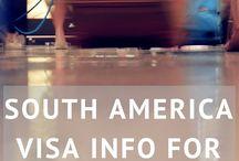 South America Visa information for Travellers / Information for Australian travellers on visa and reciprocity fees for Argentina, Chile, Colombia, Brazil, Bolivia, Ecuador & Peru.