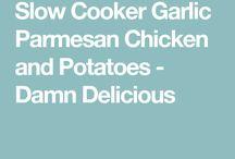 Slow Cooker Parmasom Chicken