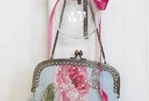 Vintage antique beads bag n purse