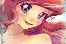 Princesas Disney en Anime