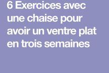 Exercices ventre plat
