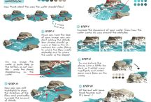 PAINTING TUTORIAL / nature tutorial, digital art, digital painting, tutorial, art reference, reference, water, original art