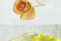 kvety šité