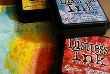 Distress inkt, Stains, Paint, Crackelpaint.