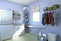 Lavanderías funcionales y con estilo. / Las mejores ideas para organizar tu cuarto de lavado