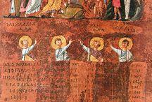 """Codex Purpureus Rossanensis/Rossano Gospels / Purpureus Rossanensis SignΣ Matthew, Mark 6th century Greek 1879, Rossano Diocesan Museum, Rossano Cathedral 188 folios; 31 x 26 cm; 20 lines; 2 col. TypeByzantine text-type CategoryV Noteclose to N (022) """"Günümüze kalan hali, Matta incilini ve Mark'ın incilinin büyük bir kısmını barındırır."""""""