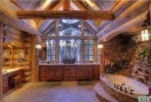 Горные Дома (Rustic, Stone- wooden house)