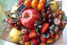 dekorace z ovoce a zel.