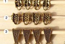 бейлы держатели для подвесок и кулонов, для украшений и бижутерии ручной работы. Handmade