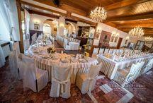"""Hotel-Restauracja """"Zamek"""" / Pragniemy gorąco zaprosić Państwa do skorzystania z naszych usług w zakresie organizacji wszelkiego rodzaju przyjęć, takich jak:      Wesela     Komunie     Urodziny     Bankiety     Studniówki     Chrzciny"""
