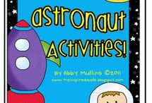 A is for...astronaut, outerspace theme / letter a theme... astronaut, outer space, rocket, space ship, planet, moon, stars, constellations / by Judy ABC Primetime Learning