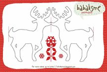 Reindeer cut out chain