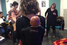Matronas & Molto / Ya tenemos las fotos de la colaboración con la Associació Catalana de Llevadores en el taller que impartió sobre el uso respetuoso de fulares y portabebés para las matronas de Girona. #porteo