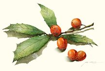 Painting Holly for Christmas / by Jacqui Osborn