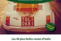 40 plus belles routes d'Italie / 7500 km de belles routes, couvrant 16 régions en Italie. Illustrées par 80 photos.  Quelles soient en montagne, en bordure de lac ou côtières, les routes sélectionnées sont spectaculaires, mythiques ou tout simplement « joueuses ».  Elles vous invitent dans des décors que vous pourrez contempler à bord de votre voiture ou moto, tout en éprouvant le plaisir de conduire.  ISBN : 9782362140365 11 € TTC Vente en ligne sur www.bedandhistoricmotors.com