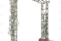 Garden arches & columns / Modular and expandable garden arches, pagodas and gazebos