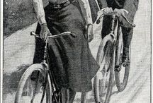 Illustrations with the bicycles