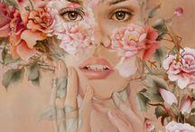 Wendy Ng. Китайская художница. / Стой, Бабочка Моя, Не Исчезай...