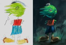 Monsters by Kids / Here is our project we did in Xela, Guatemala in April '16. Illustrators from Turkey and Mexico reinterpretted kids' drawings in their own style. Check out to see more details about the project and keep an eye open for the upcoming one: https://www.facebook.com/monstersbykids https://www.instagram.com/monstersbykids/ https://www.behance.net/gallery/41581211/Monsters-by-Kids
