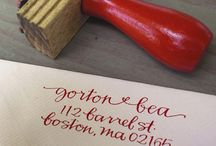 Mail, Stamps, Letters / Rubber stamps and lettering envelopes