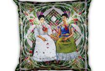 Viva la Frida - Almofadas / Frida Kahlo é a inspiração para a coleção de almofadas da P.verso - Viva la vida, Viva la Frida http:\\www.pverso.com.br
