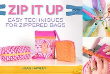 Craftsy Class: Zip It Up! / Zip It Up is a great foundation class to build your zipper and bag-making skills. We'll make three small bags, which utilize these techniques and more: install zippers, box corners, seam finishes, selecting materials, directional prints. Throughout the class Joan also shares her shortcuts and tips that make construction easy and give her creations a professional look. / by Joan Hawley
