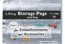 3-Ring Storage Page with Flaps / Embellishment Page / Ultra PRO 3-Ring Storage Page is a great solution for storing and organizing small collectibles, trinkets, and craft bits. It is a Scrapbooker's and Collector's Must-Have product.