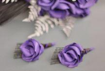 Fern inspiration / Wedding bouquets Flax flowers Fern