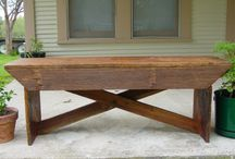 Recycled wood bench design ideas / by Recycled Luxury