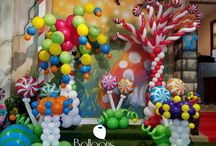 Candyland and Willy Wonka Balloon Decor / Candyland and Willy Wonka themed events are one of our most popular inquiries and the most fun to do!  Want more? Visit www.balloonsbytommy.com