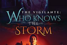 The Vigilante Series / Pins relating to the gay romance superhero series by Tere Michaels including Who Knows the Storm and two more books coming in 2015! (Available from Dreamspinner Press.)