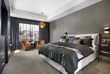 Grey bedroom interior / Grey bedroom interior design