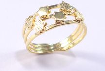 Rings ... / The latest 18ct gold plated rings
