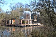La Cabane Miroir / Reflet de la nature et de notre âme, entre ciel et eau