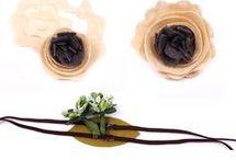 cerchietto elastico con fiore
