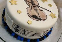 Hegedűs, hangjegyes torta