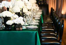Black, Gold & Emerald green
