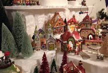 Snow Villages / ideas for setting up and decorating with snow villages, tiny houses, etc
