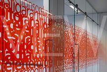 Glass door graphics