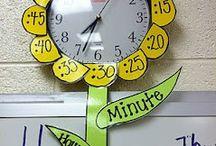 horloge florale classe