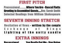 Wedding - Baseball Style