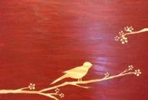 onBoard505 / custom staining. wall art and headboards http://www.etsy.com/shop/onBoard505?ele=shop_open  / by darcy linton