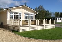 Fensys static caravan decking / U PVC plastic high specification decking for holiday homes, static caravans, lodge developments, park homes. Fensys decking includes our premium deck board range, U PVC balustrade hand railing and a galvanised steel sub-frame