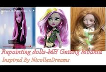 Monster high doll repainting