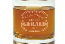 Gläser und Karaffen mit Gravur