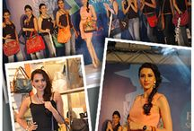 Alesia Raut in vogue with Baggit's Latest Collection! / Style divas Alesia Raut & Gail D'Silva Femina Miss India 2nd runner up come together with Baggit's stylish accessories to bring the essence of fashion and  perfection as they showcased the Colorful and trendy Collection at the Femina Fashion Show in VivianaMall.